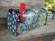 Mailbox lust... Fun Funky Painted Mailbox by mizippihippi on Etsy, $75.00