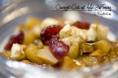 Overnight Oats, Fruit Salad, Pork, Sweets, Ethnic Recipes, Cinnamon, Apple, Kochen, Food Food
