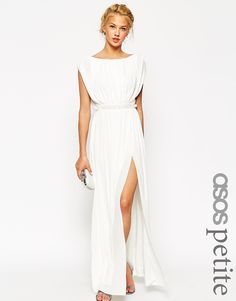 Image 1 of ASOS PETITE Embellished Waist Maxi Dress