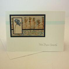 Sympathy card - blue flowers £1.95