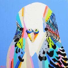 BUDGIES OWLS PAROTS - ANYA BROCK