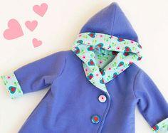 HEARTS HOODIE Jacket sewing pattern Pdf Easy Hooded by PUPERITA