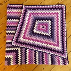 Purple Throw Blanket Crochet Afghan by PhoenixSmiles on Etsy