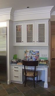 small office/desk area in the kitchen