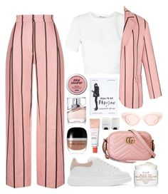 """Pink day"" by daniielar ❤ liked on Polyvore featuring T By Alexander Wang, Alexander McQueen, Marc Jacobs, HUGO, Gucci and Fresh"
