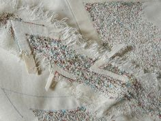 Judy Merchant Transience 60 x 60 cms Calico, machine stitch and wax