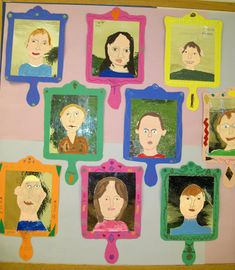 third grade portraits-cute display idea