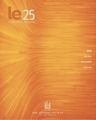 LE Lifestyle Edition Magazine 2014/2015 Fall/Winter issue for Leading Hotels of the World
