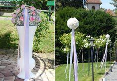 Unsere #Polyresin #Vase in #weiß eignet sich perfekt für eine #schöne Trauung im #Freien - #outdoor #wedding #weddingideas #weddinginspiration