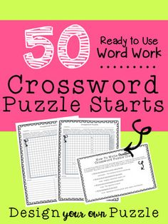 Differentiated crossword puzzles - WORD WORK.  Allows for every student to succeed.  Great for Higher Order Thinking!