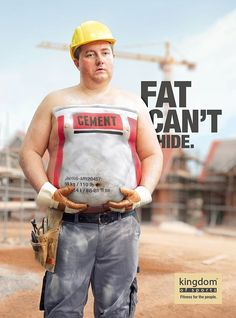 Fat can't hide - Werbeplakate des Kingdom of Sports Fitness Center | DerTypvonNebenan.de