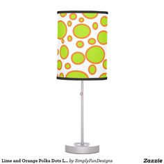 Lime and Orange Polka Dots Lamp
