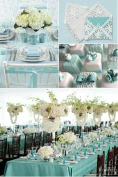 Tiffany blue, love the aqua & white colour together, beach feel.