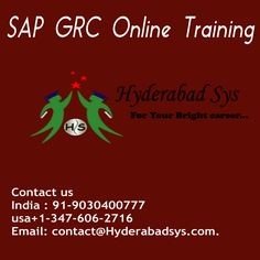 "SAP GRC Online Coaching  – the best procedure for supervise hazard in association  When men and women digest any kind of small business paying minor appreciation thus to their tendency, these people hold files that happen to be enormously enormous. Data could possibly be relevant to Consumers,  <a href=""http://hyderabadsys.com/sap-grc-online-training/""> SAP GRC Online Training </a>"