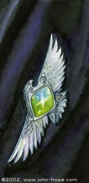 John Howe :: Illustrator Portfolio :: Home / From Hobbiton to Mordor / Cards and Such / Elessar Legolas And Tauriel, Gandalf, Middle Earth Books, John Howe, Luthien, Medieval Fashion, Fantasy Jewelry, Silver Brooch, Lord Of The Rings