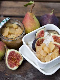 Mandel-Milchreis mit Vanille-Birnen und frischen Feigen...