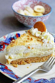 No-Bake Banana Pudding Cheesecake with Banana Cream