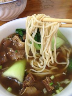 Dry Noodles with Minced Pork Sauce at Lam Zhou ($5)