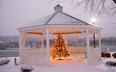 Our gazebos are built for beauty and durability through all seasons
