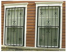 Retractable Window Grilles Exterior View Decorative Security