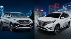 what are the differences of 2018 Toyota Rush vs Daihatsu Terios generation. Comparison of Rush vs Terios, low SUV for asian market. Daihatsu Terios, Asian Market, Black Side, Side Door, Trd, Rear View Mirror, Black Accents, Luxury Cars, Toyota