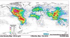 World map of lightning strikes