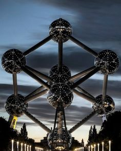 The Atomium. If my kids were young, and we lived in Brussels, we could sleep here...