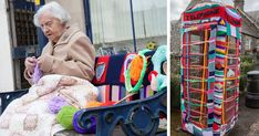 104-year-old great-grandmother Grace Brett just might be the oldest street artist in the world. She yarn-bombed her town with the help of the Souter Stormers, a secretive group of 'yarnstormers' that recently yarn-bombed 46 landmarks in the Scottish county of Borders.