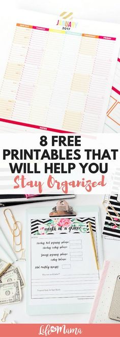 Printables provide a simple, cost-effective way to get you and your family in order without forcing you to upend your entire life. These free printables are fun, colorful, and extremely helpful!