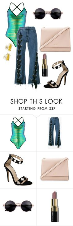 """""""Lace up Jeans"""" by mack-et-la-mode ❤ liked on Polyvore featuring River Island, Marques'Almeida, Kate Spade and Bobbi Brown Cosmetics"""
