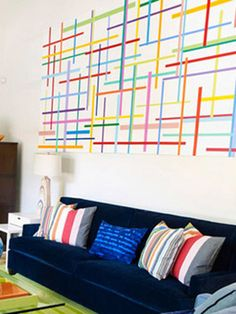 Choose a colorful painting for your biggest wall. #home #decor