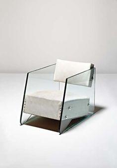 Denham Maclaren  glass and leather armchair ca. 1930