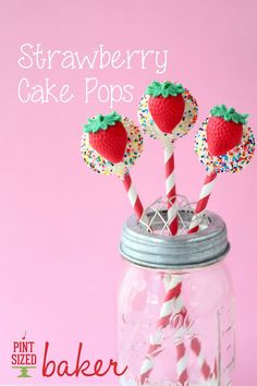 Pint Sized Baker: Strawberry Cake Pops with a Mold