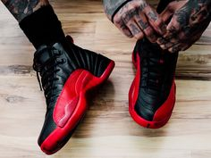 07608e19534249 Nike Air Jordan 12 Retro Flu Game On Feet  nikeair  airjordans  sneakers