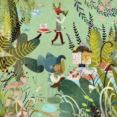 """I managiatori di libri"", illustration for the Tapirulan Calendar contest digital, by Noemi Gambini Children's Book Illustration, Character Illustration, Graphic Design Illustration, Pop Art, Beautiful Drawings, Decoupage, Book Design, Painting, Artwork"