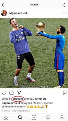 Ronaldo tiếp tay cho fan chọc ghẹo Messi