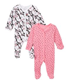 62808e4de Black & Pink Puffin Footie Set - Infant by Rosie Pope Baby #zulily #
