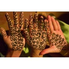 Womans Palm Decorated in Henna Jaipur Rajasthan India Canvas Art - Keren Su DanitaDelimont (26 x 17)