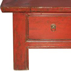 6 Drawer Red Coffee Table | From a unique collection of antique and modern furniture at http://www.1stdibs.com/furniture/asian-art-furniture/furniture/