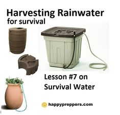 Set up a rain barrel to harvest water for your survival: http://www.happypreppers.com/water.html