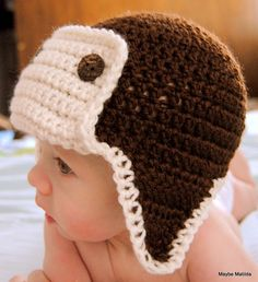 3957db0edab Items similar to PDF Pattern for Crochet Baby Bomber Hat with Permission to  Sell What You Make on Etsy