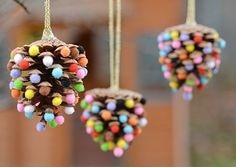 Diy christmas ornaments 238198267769427667 - These pom pom and pinecone ornaments are SO EASY! They're a great craft for both kids and adults and they end up looking surprisingly beautiful! Kids Christmas Ornaments, Pinecone Ornaments, Easy Christmas Crafts, Personalized Christmas Ornaments, Homemade Christmas, Simple Christmas, Christmas Decorations, Christmas Tree, Snowman Ornaments