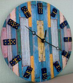 Часы настенные Домино.  Wall Clock Domino. Home от VictoriasClocks