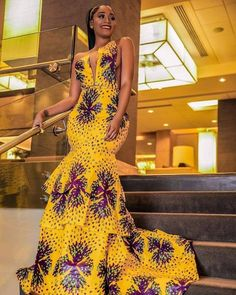 Beautiful African Print Fashion dresses for women African Fashion Ankara, Latest African Fashion Dresses, African Print Fashion, Africa Fashion, African Style, Nigerian Fashion, African Prints, African Fabric, Long African Dresses