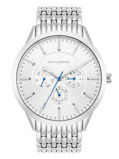 Stahlbergh pánské analogové hodinky 10060081, stříbrné  4449 Kč