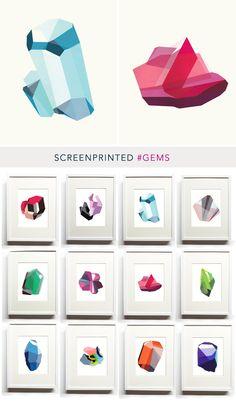 Elise Werbler, gem screenprints. Amazing