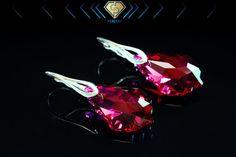 Swarovski earrings Ruby Swarovski crystal earrings by Perlery Swarovski Crystal Earrings, Silver Earrings, Stud Earrings, Earrings Handmade, Jewellery, Sterling Silver, Etsy, Jewels, Stud Earring