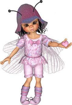 """Photo from album """"Куколки разные"""" on Yandex. Cute Fairy, Baby Fairy, Cute Little Girls, Cute Kids, Kobold, Butterfly Fairy, Fantasy Images, Little Designs, Illustrations"""