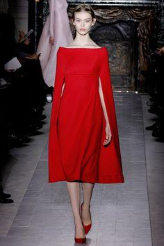 Modern Red Riding Hood | Valentino :: Paris Haute Couture spring/summer 2013 | Ondria Hardin