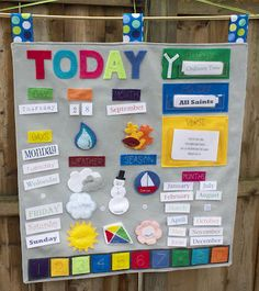 Felt calendar for my toddler... I can totally make this!.... Maybe...